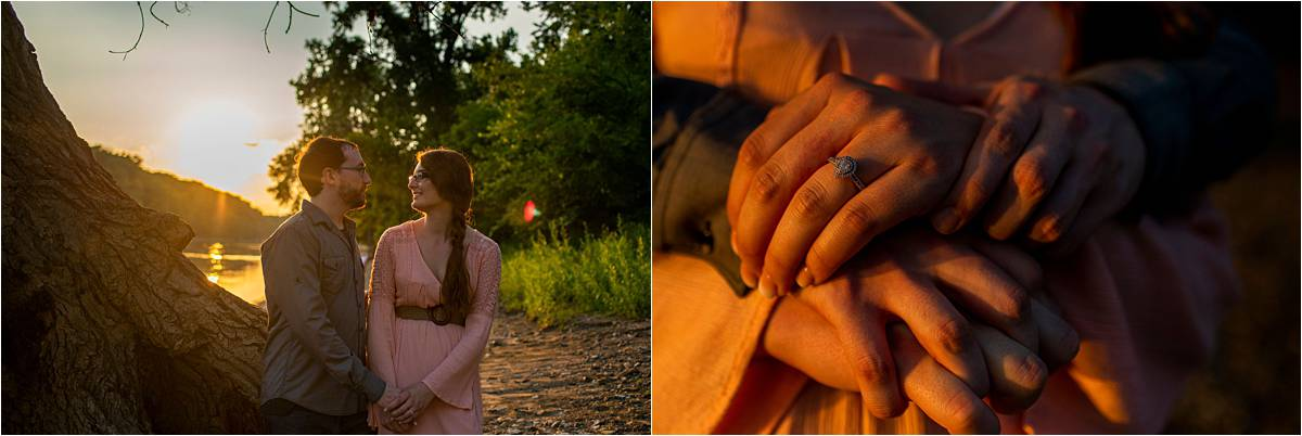couple and engagement ring