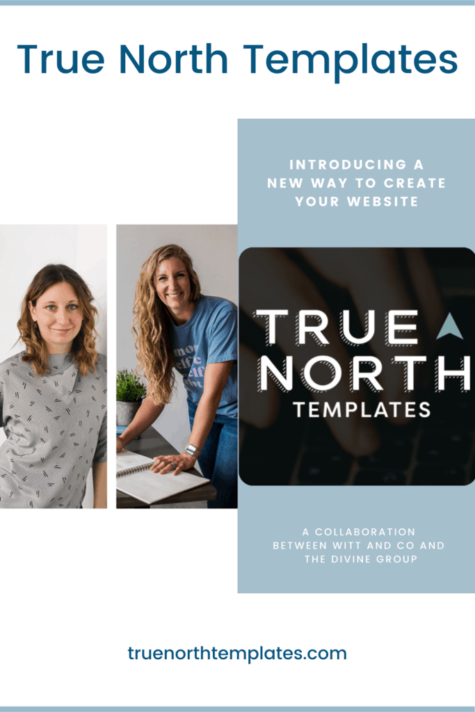 Is hiring a team to design, create copy & imagery, and build a customizable website out of reach? Introducing True North Templates - a template shop for purpose-driven solopreneurs who want their website to have a big impact on their clients! Sign up for our waitlist so you can be the first to know when we go live. | The Divine Group | Minneapolis brand photography, Minneapolis website design | #brandphotography #websitedesign