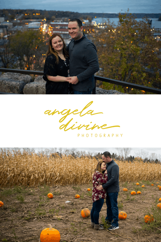 These pictures are from a fall engagement session I photographed at a pumpkin patch in Stillwater, Minnesota. After we got our gourd on, we made our way to downtown Stillwater to catch the twilight.  Check out more of their engagement photographs on my blog!   Angela Divine Photography   Minneapolis wedding + brand photographer   #engagement #engagementphotos #engagementsession #fallengagementphotos   https://angeladivinephotography.com/stillwater-pumpkin-patch-engagement-session